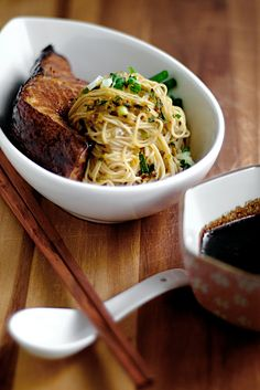 Cod Teriyaki with Ginger Scallion Noodles