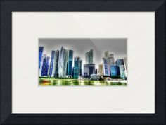 """""""Fantastic City Singapore  Urban Landscape"""" by Michelangelo Design And Co., Singapore // City Center // Imagekind.com -- Buy stunning fine art prints, framed prints and canvas prints directly from independent working artists and photographers."""