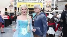 all this awesome nerdy stuff, nerdy stuff~ check out the original video here! Jelsa, Disney And Dreamworks, Disney Pixar, Frozen Love, Jack Frost And Elsa, Queen Elsa, Disney Cosplay, The Big Four, Amazing Cosplay