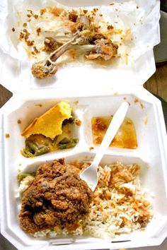 MaRandy's in Savannah, GA. Best fried chicken and veggies.