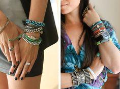 Tons of bracelets == arm party