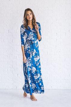 638599fb0bf Melanie Contrast Maxi Dress   Chambray