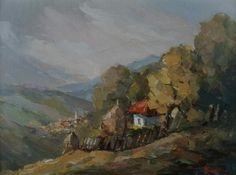 Andrei Branisteanu  - Pe Muchia Dealului Painting, Art, Art Background, Painting Art, Kunst, Paintings, Performing Arts, Painted Canvas, Drawings