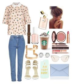 """""""#ToWork"""" by ellen2104 ❤ liked on Polyvore featuring Topshop, Rebecca Minkoff, Oliver Peoples, H&M, David Yurman, Charlotte Tilbury, Yves Saint Laurent and Essie"""
