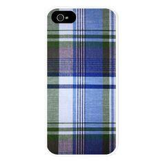 Green Blue Plaid iPhone 5 Case