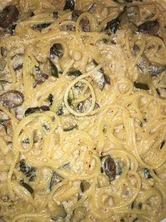 balsamic sautéed mushrooms and cucumber alfredo