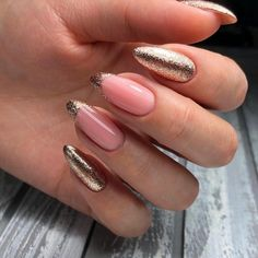 Hottest Trends for Acrylic Nail Shapes Gold Nail Designs, French Manicure Designs, Beautiful Nail Designs, Long Nail Art, Long Nails, Golden Nails, Acrylic Nail Shapes, Luxury Nails, Fabulous Nails