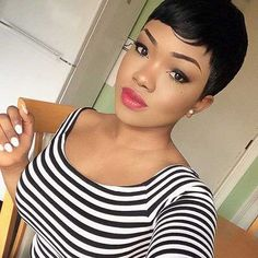 Lace Front Straight Human Hair Wigs Cheap Pixie Cut Short With . Lace Front Straight Human Hair Wigs Cheap Pixie Cut Short With online hair cutting style - Hair Cutting Style Short Black Hairstyles, Short Pixie Haircuts, Pixie Hairstyles, Short Hair Cuts, Short Hair Styles, African Hairstyles, Haircut Short, Asymmetrical Hairstyles, Hairstyles 2018