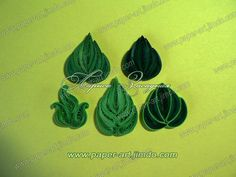 How to quill a variety of leaves. Site in Russian