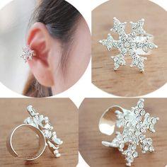 ear cuffs, snowflak