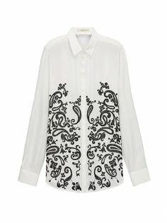 ETRO White Boyfriend Shirt | ETRO Women's Blouses SS 14