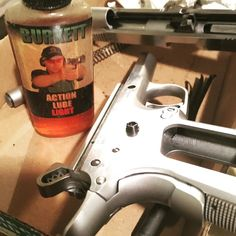 #gunsmithing #9mm #1911 making it work and #triggerjob love the old school #actionlube from #mattburkett