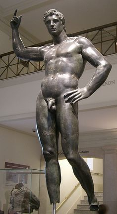 Bronze Statue of a Man. ca. mid 2nd-1st century BCE. Greek, Hellenistic. Bronze. Metropolitan Museum of Art.