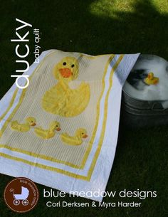 PDF Quilt Pattern - Ducky Baby Quilt