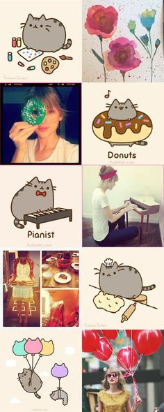 Taylor Swift may or may not be the Pusheen cat