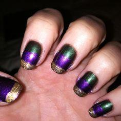 mardi gras - nails