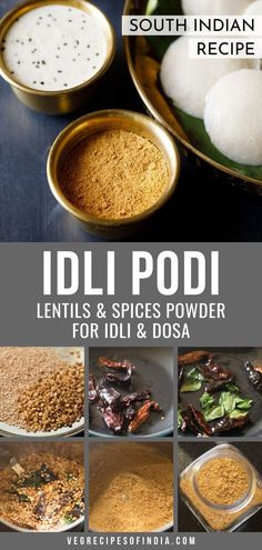 Idli Podi Recipe with step by step pics. Idli Podi also known as milagai podi is a dry powder made with lentils and red chilies. Served with idlis or dosa. Cube Steak Recipes, Oven Recipes, Turkey Recipes, Cooker Recipes, Kale Recipes, Carrot Recipes, Fish Recipes, Chickpea Recipes, Flour Recipes