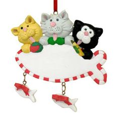Image detail for -Our Cute Kittens Polymer Clay Ornaments