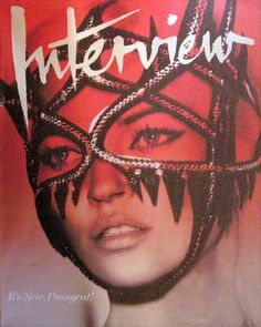 Kate Moss on the cover of Interview Magazine