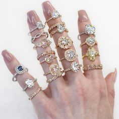 "1,148 Likes, 30 Comments - THE TRUE GEM (@thetruegemcompany) on Instagram: ""Here is some serious sparkle to brighten up your Monday!✨⚡️ #diamondtribe #alloftherings #ringstack"""