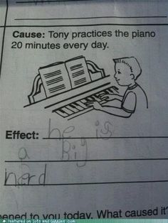 XD Here's for all those creative elementary kids. ^^