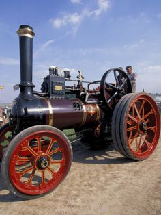 size: Photographic Print: Great Dorset Steam Fair, Vintage Steam Engine, Dorset, England by Nik Wheeler : Artists Antique Tractors, Vintage Tractors, Old Tractors, Vintage Farm, Farmall Tractors, Antique Cars, Tractor Pictures, Train Pictures, Steam Tractor