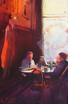 Alvaro Castagnet - Cafe scene