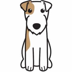 Parson Russell Terrier Dog Cartoon!! OMG!