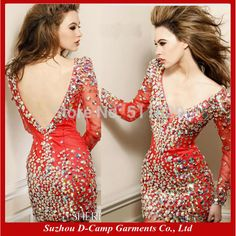 Find More Cocktail Dresses Information about FREE SHIPPING OD 134 Fancy hot sexy long sleeve dress mini heavy hand beaded,High Quality dresses net,China dress paisley Suppliers, Cheap dress to the left from Suzhou D-Camp Garments Co., Ltd. on Aliexpress.com