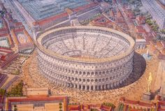 Italy - Roma (Rome) under Domitian - The Colosseum
