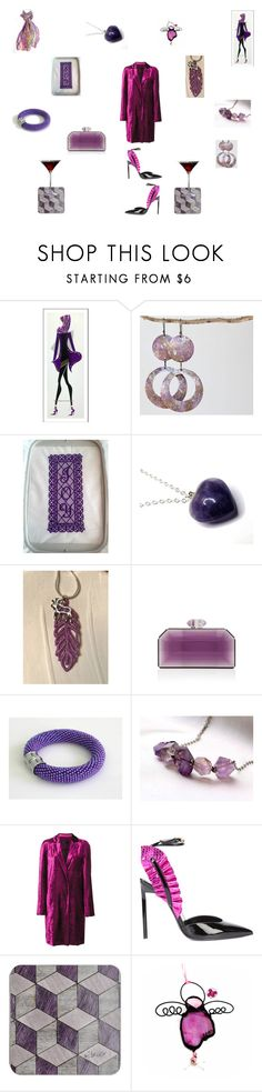 """""""Pretty purple pink"""" by einder ❤ liked on Polyvore featuring Judith Leiber, Haider Ackermann and Yves Saint Laurent"""