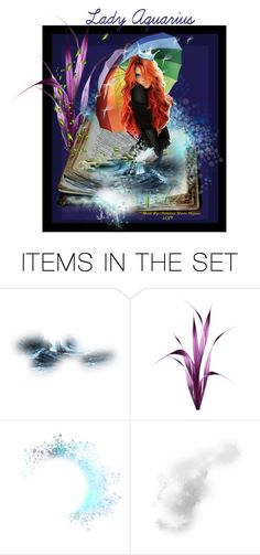 """Lady Aquarius"" by arianna-marie-organo ❤ liked on Polyvore featuring art"