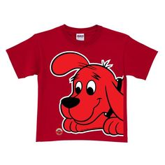 Clifford the Big Red Dog Close-Up Red T-Shirt Size 4T - http://bandshirts.org/product/clifford-the-big-red-dog-close-up-red-t-shirt-size-4t/