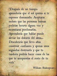 Consejos universales para la vida. - William Shakespeare