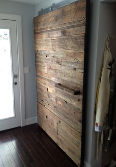 Custom pantry sliding door by Project Sunday .wood.furniture.salvaged