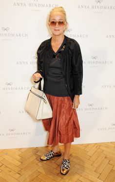 Lucinda Chambers attends the Anya Hindmarch presentation during London Fashion Week SS14 at Central Hall Westminster on September 17 2013 in London...
