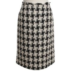 Pre-owned skirt from Bouclé ($555) ❤ liked on Polyvore featuring skirts, black, multi colored skirt, print skirt, boucle skirts, chanel and multi color skirt