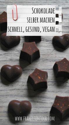 Schokolade selbstgemacht, Rezept, Rezepte, vegan, gesund