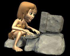 Computador prehistórico animado