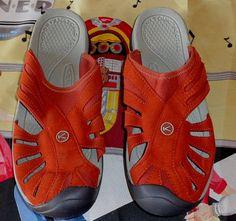 aca30014e2d1 Keen Women s Rose Slide Sandal - Burnt Henna Neutral Grey Orange Size 10
