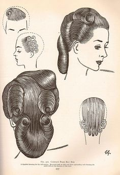 Vintage Hair  Tutorial- The Art & Craft of Hairdressing 1950 by Sew Something Vintage, via Flickr