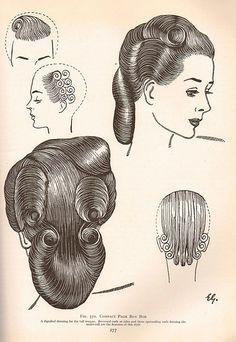 Vintage Hair - The Art & Craft of Hairdressing 1950 by Sew Something Vintage, via Flickr