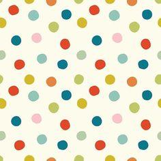 Mod Basics 3 - Pop Dots Poplin   Multi
