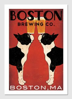 Customize+Personalize++BOSTON+Terrier+Brewing+Co.+by+nativevermont,+$39.00