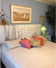 Une tête de lit comme une clôture de jardin