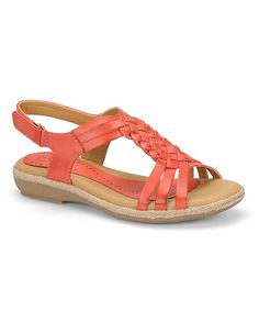 Another great find on #zulily! Red Tangerine Sheela Leather Slingback by Softspots #zulilyfinds