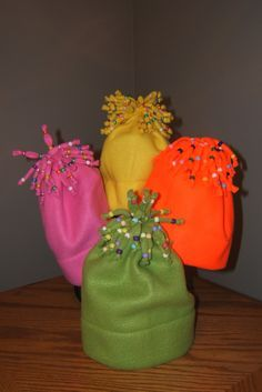 Good Morning All. Here are my pics of my easy fleece hats.  To make these hats is very simple. All you need is at least 1/2 yard of fleece to complete. Measure the stretchy side of material to ...