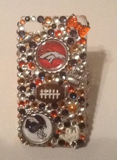Bling Denver Broncos NFL phone case available by Candycrystals21, $26.99