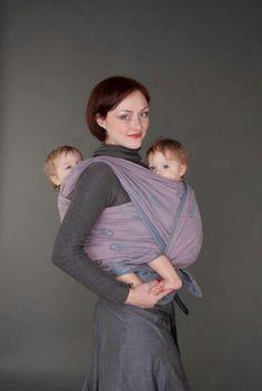 Tandem babywearing in a didymos woven wrap