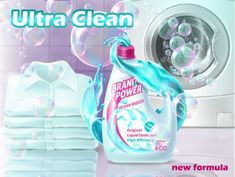 Buy Vector Realistic Promo Banner of Liquid Detergent by vectorpocket on GraphicRiver. Vector realistic promo banner of liquid detergent with washing machine, clean shirts. Poster for advertising cleaning. Laundry Shop, Beauty Ad, Soap Bubbles, Laundry Detergent, Cleaning, Washing Machine, Usa Clean, Social Media, Washer